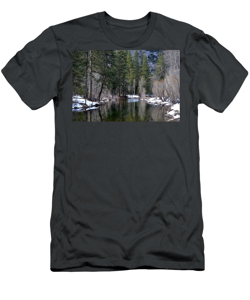Yosemite Men's T-Shirt (Athletic Fit) featuring the photograph Yosemite Reflections by Christine Owens