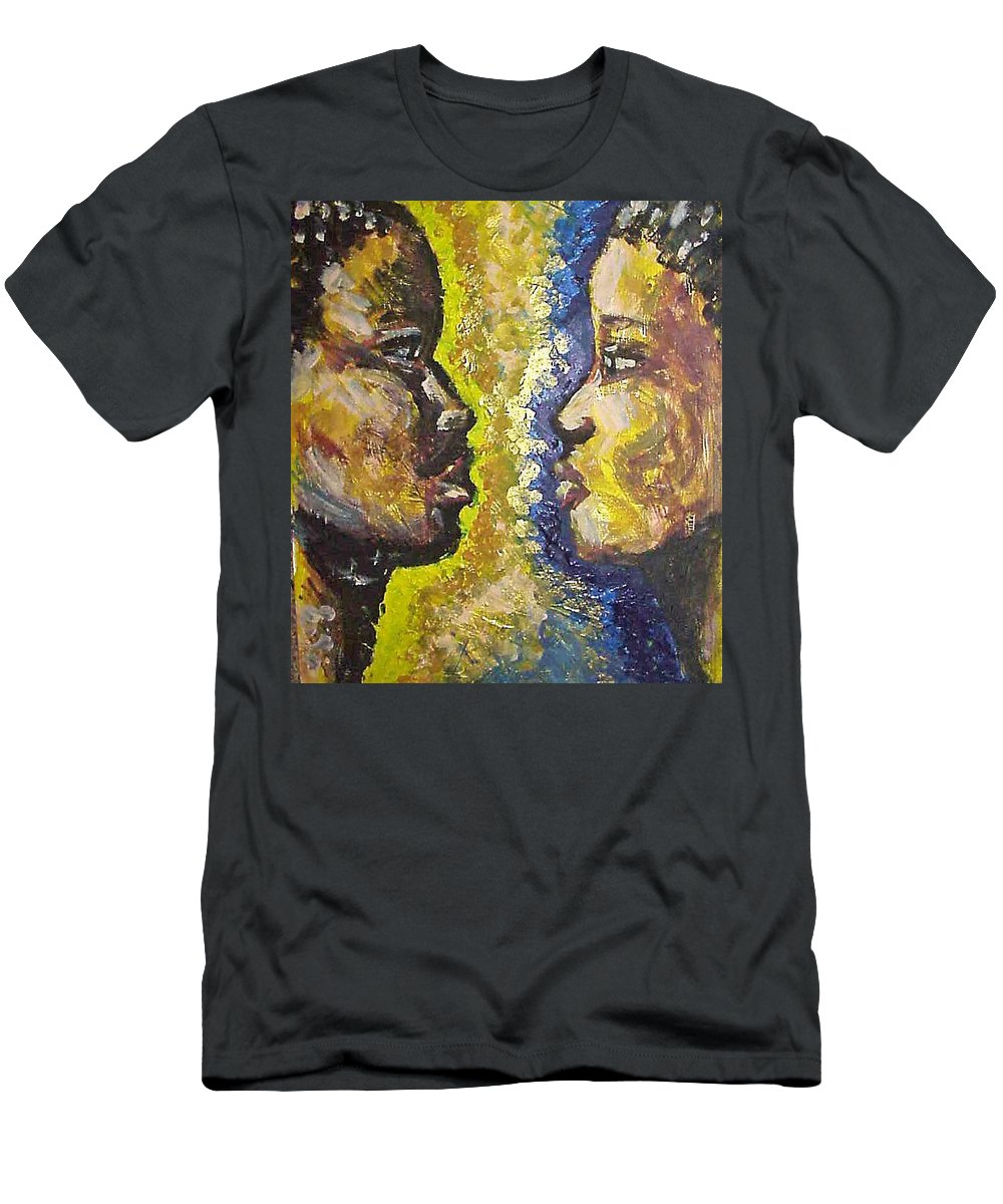 Men's T-Shirt (Athletic Fit) featuring the painting You And I by Jan Gilmore