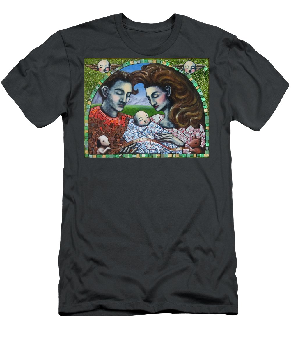 Baby Men's T-Shirt (Athletic Fit) featuring the painting Your World Will Open Endlessly by Pauline Lim