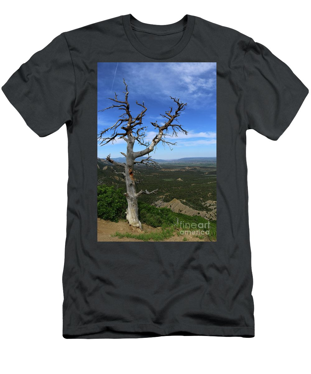 Cliff Dwelling Men's T-Shirt (Athletic Fit) featuring the photograph You're Still On My Mind by Christiane Schulze Art And Photography