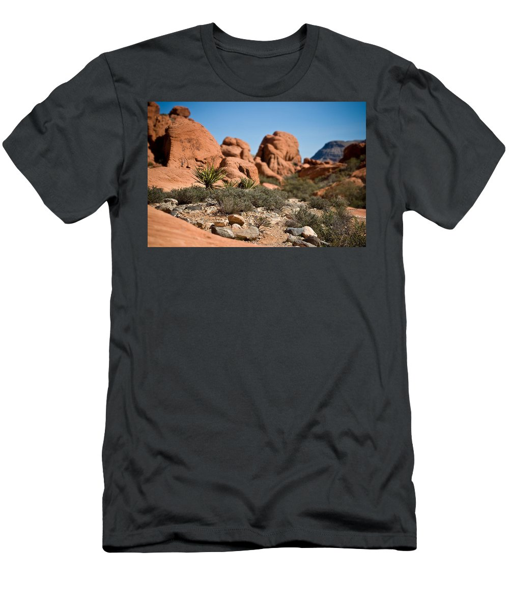 Yucca Men's T-Shirt (Athletic Fit) featuring the photograph Yucca by Chris Brannen