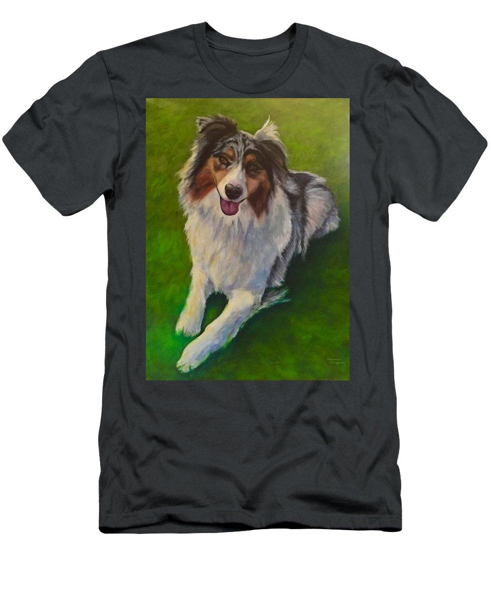Yuki T-Shirt featuring the painting Yuki by Shannon Grissom