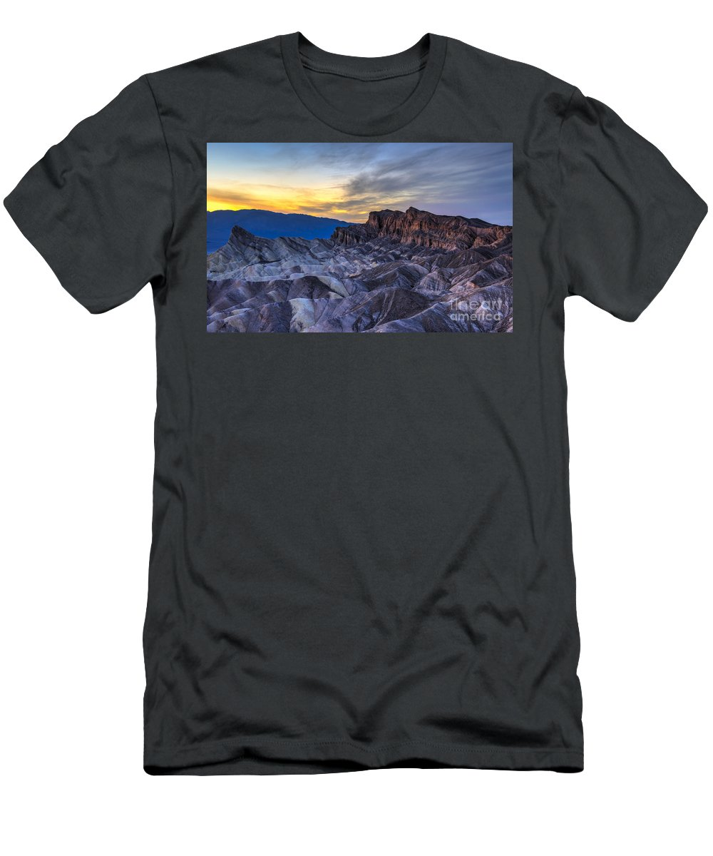 Adventure T-Shirt featuring the photograph Zabriskie Point Sunset by Charles Dobbs