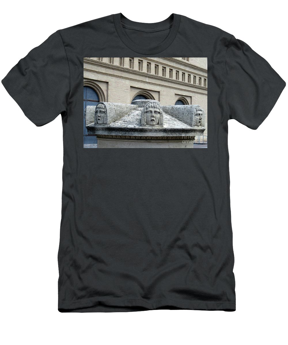 Zaragoza Men's T-Shirt (Athletic Fit) featuring the photograph Zaragoza Sculpture 7 by Randall Weidner