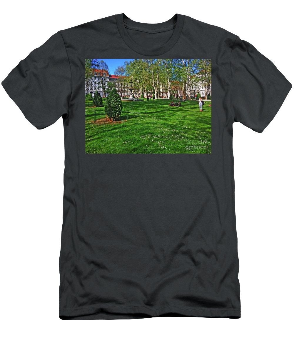 Zrinski Park Men's T-Shirt (Athletic Fit) featuring the photograph Zrinski Park by Jasna Dragun