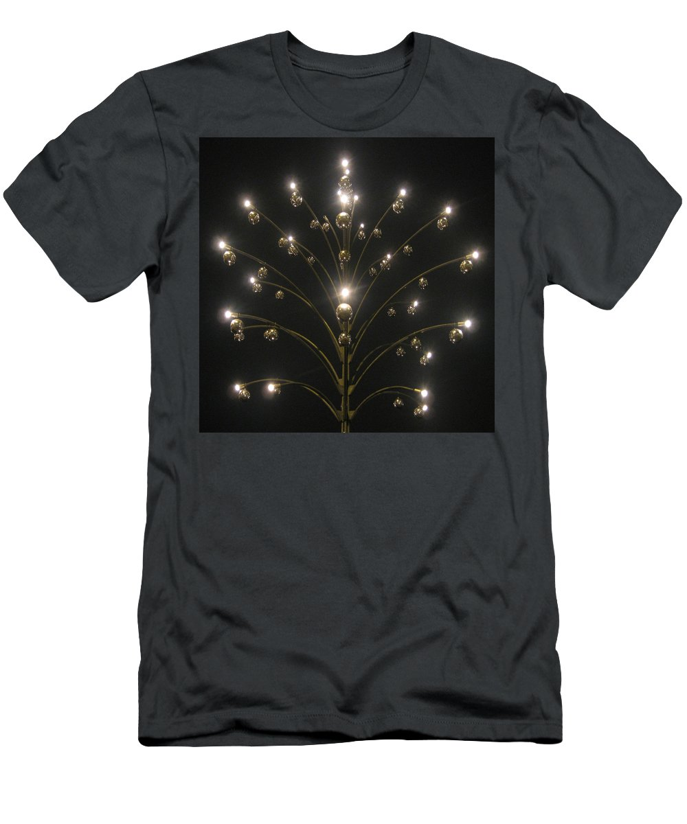 Chandelier Men's T-Shirt (Athletic Fit) featuring the photograph Zurich by Annette Hadley