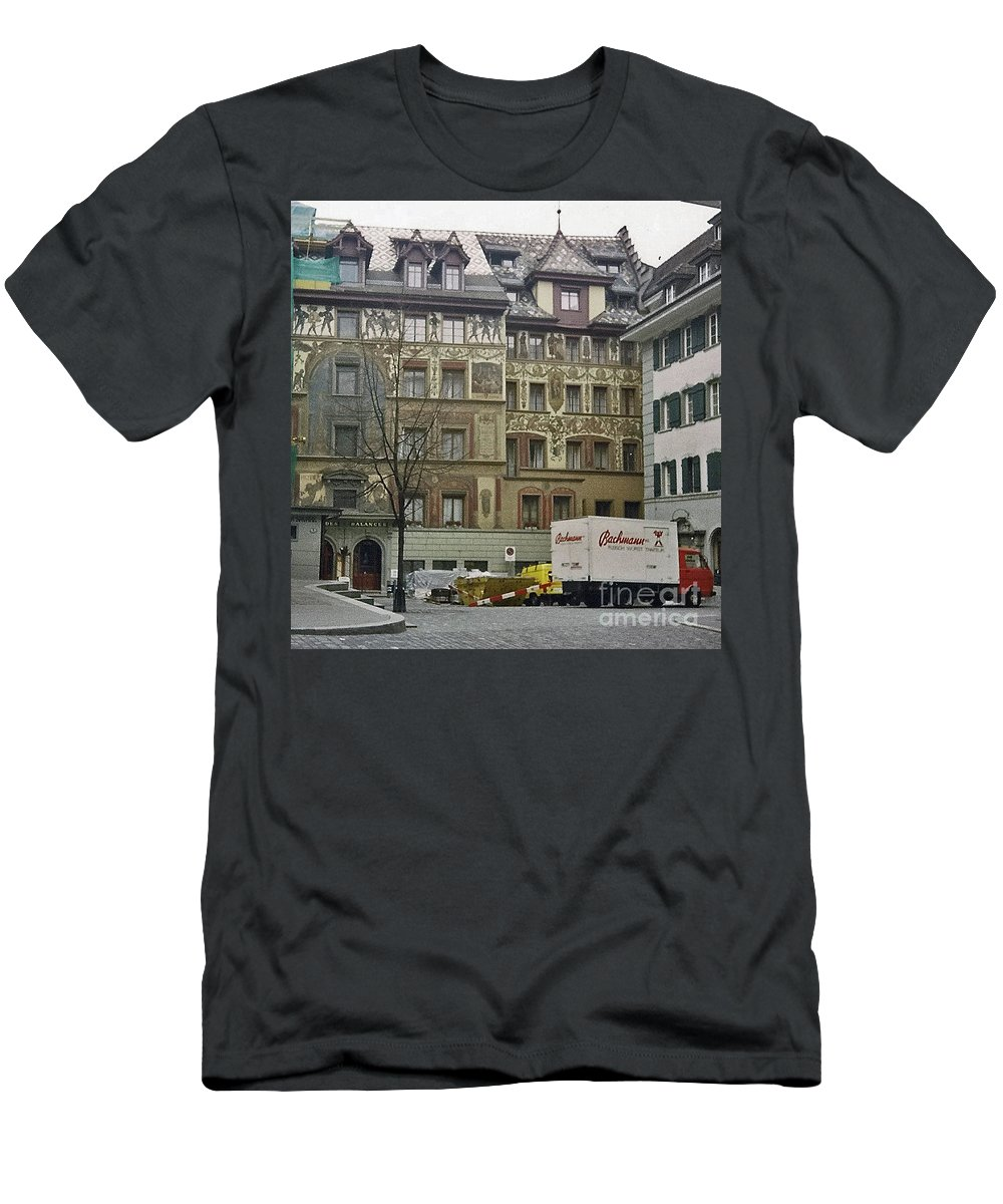 Zurich Men's T-Shirt (Athletic Fit) featuring the photograph Zurich Switzerland by Jost Houk