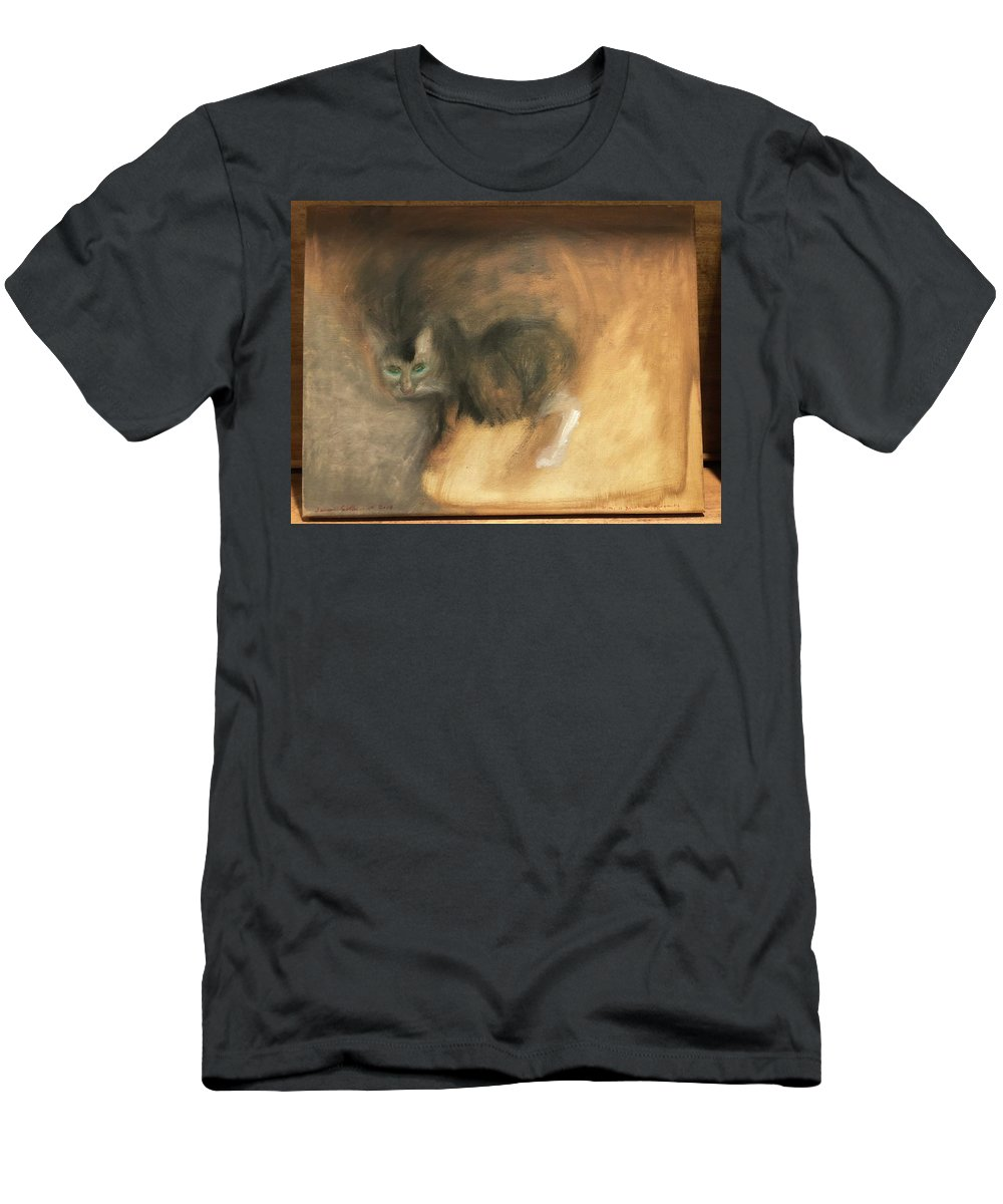 Cat Men's T-Shirt (Athletic Fit) featuring the painting Mimi by Laureen Sabella
