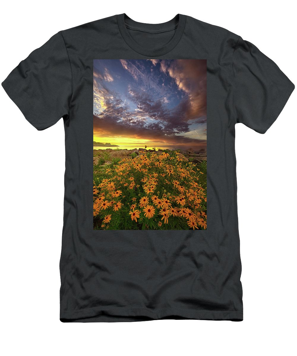 Beautiful Men's T-Shirt (Athletic Fit) featuring the photograph Before The Dawn by Phil Koch