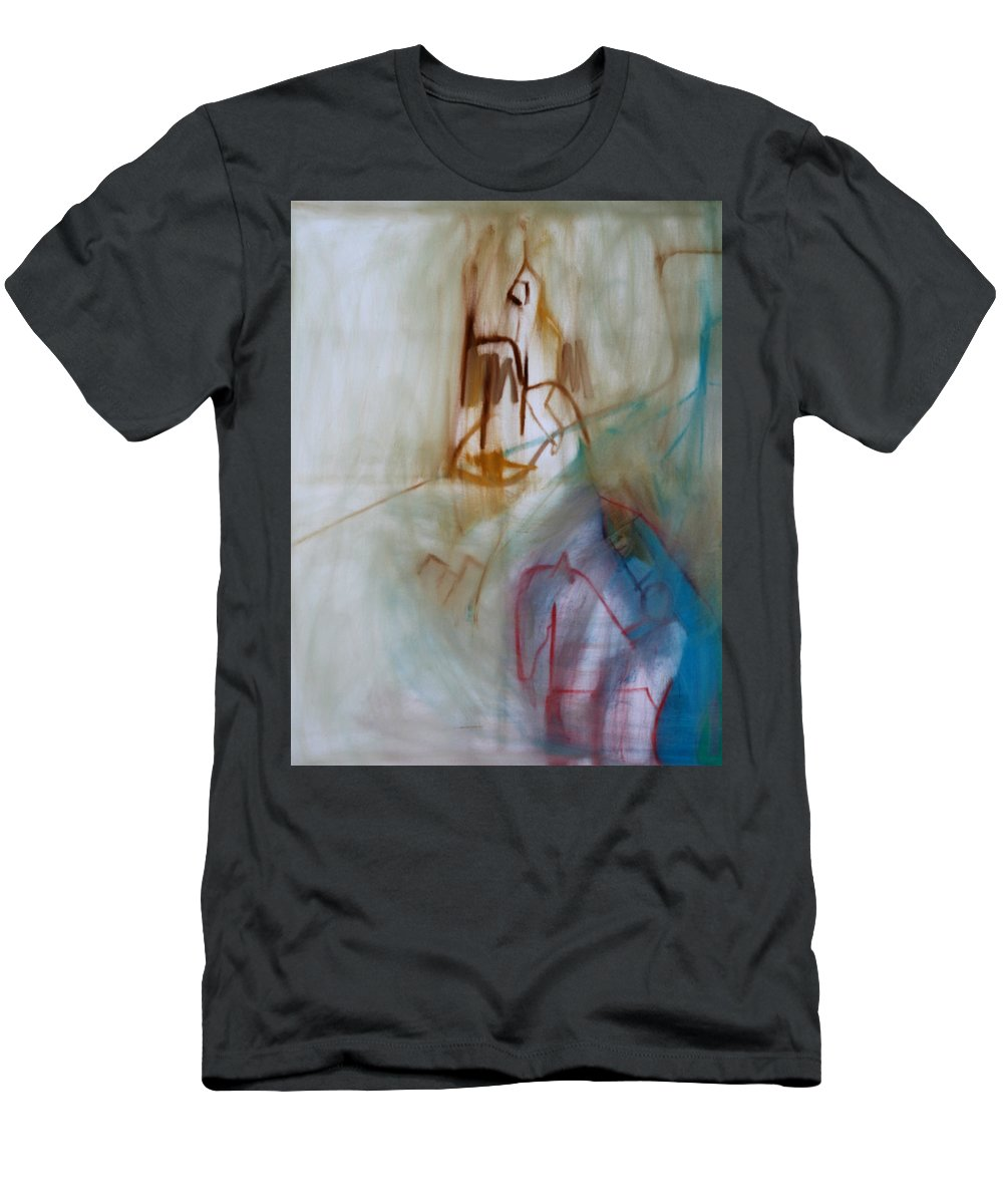 Horse Men's T-Shirt (Athletic Fit) featuring the painting Horsemen by Artist Dot