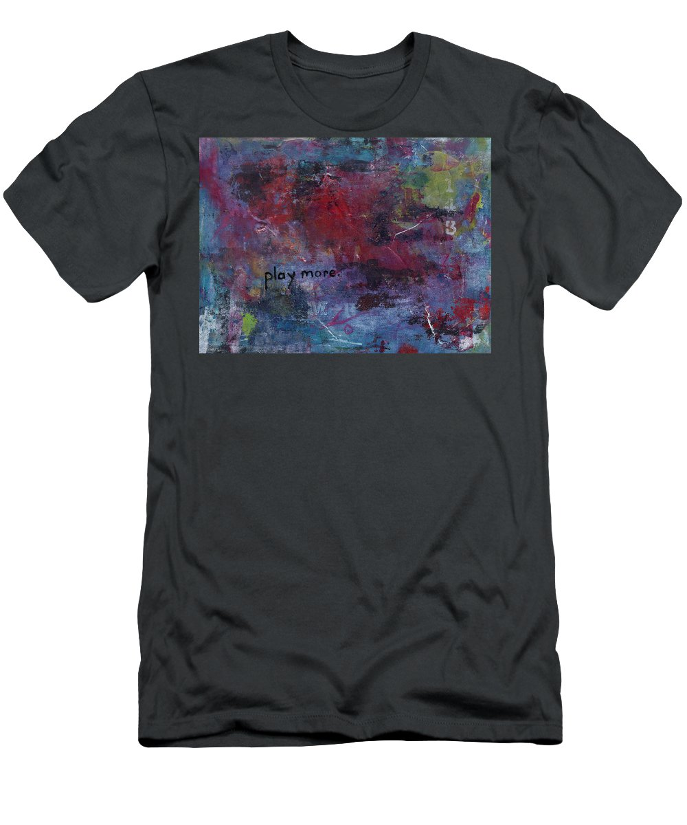 Abstract Men's T-Shirt (Athletic Fit) featuring the painting Play More 1 by A Bacia