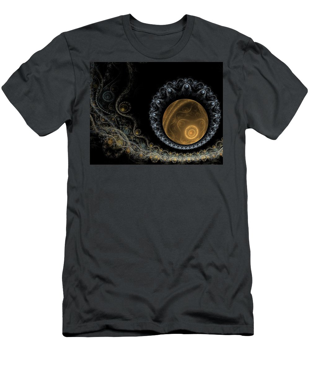 Fractal Men's T-Shirt (Athletic Fit) featuring the digital art Somewhere In The Universe-2 by Elena Ivanova IvEA
