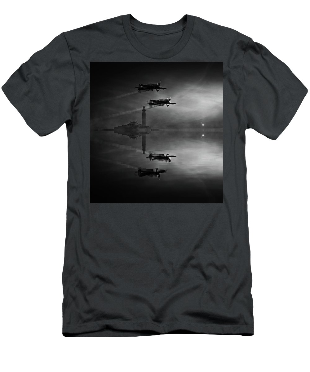 Blades Aerobatic Team Men's T-Shirt (Athletic Fit) featuring the mixed media The Blades by Smart Aviation