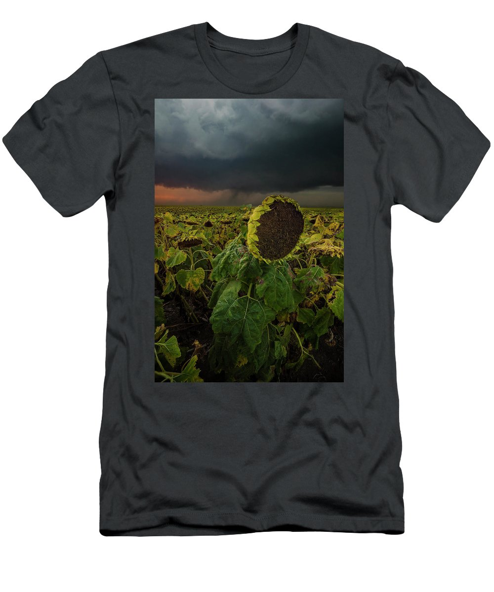 Tornado Men's T-Shirt (Athletic Fit) featuring the photograph Twisted 1 by Aaron J Groen