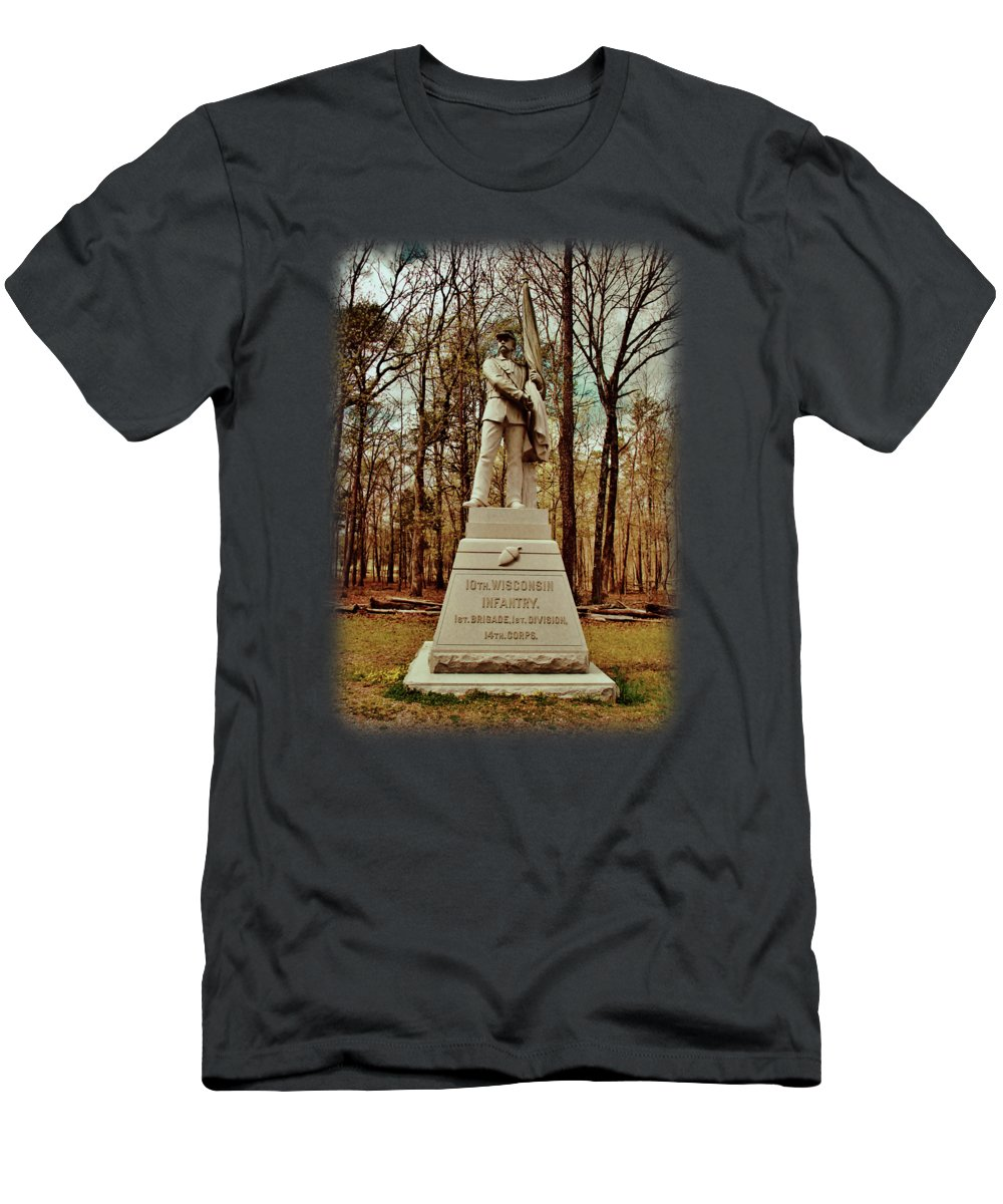 10th Wisconsin Infantry Men's T-Shirt (Athletic Fit) featuring the photograph 10th Wisconsin Infantry by Anita Faye