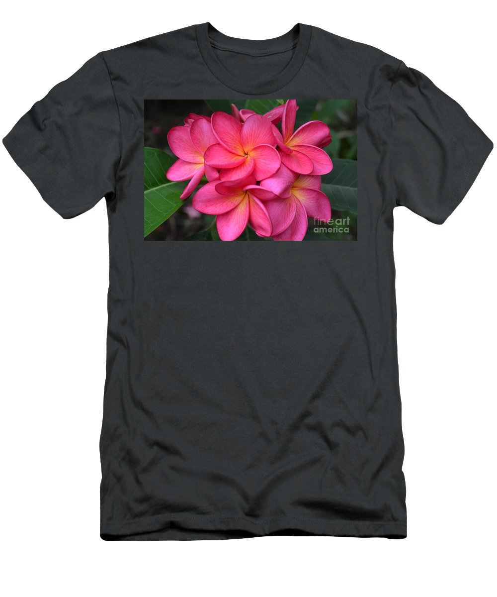 Plumerias Men's T-Shirt (Athletic Fit) featuring the photograph Untitled by Deb Cawley