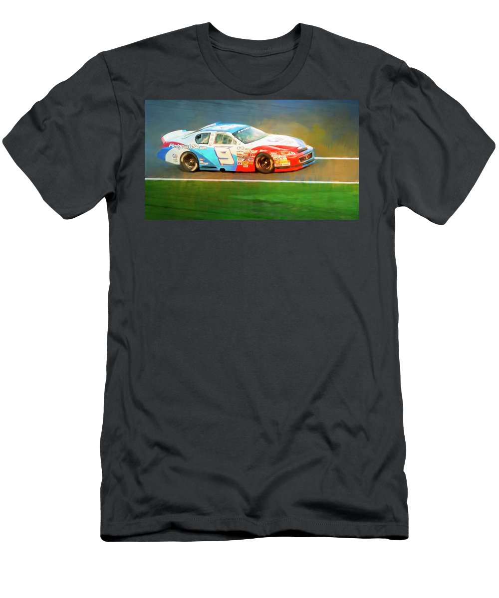 Alicegipsonphotographs Men's T-Shirt (Athletic Fit) featuring the photograph Number Nine by Alice Gipson