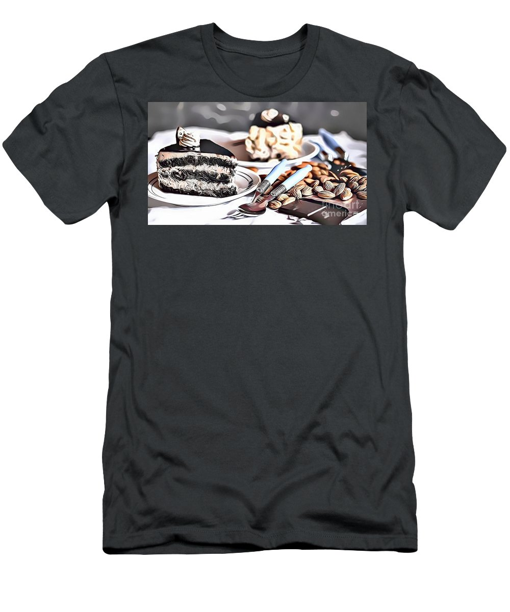 Urban Men's T-Shirt (Athletic Fit) featuring the digital art 3 Eat Me Now by Leo Rodriguez