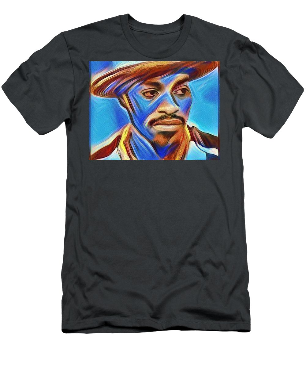 Andre3000 3 Stacks Atlanta Rap Hip Hop Atl Men's T-Shirt (Athletic Fit) featuring the digital art 3000 by Awol Latimore