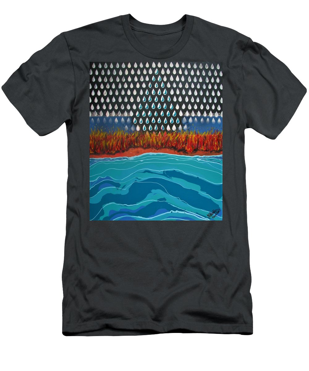 Modern Abstract T-Shirt featuring the painting 40 Years Reconciliation by Joan Stratton