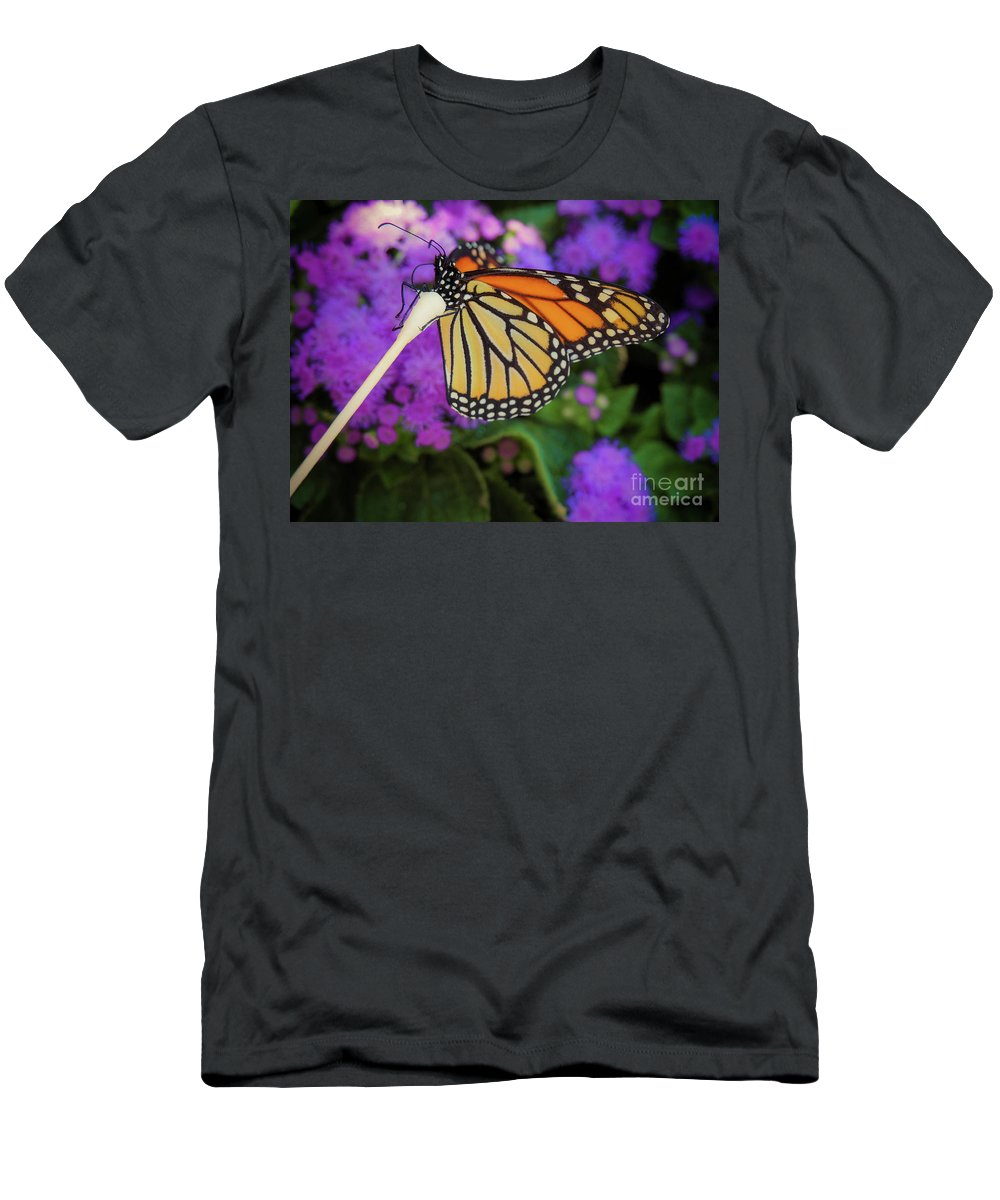 Flower T-Shirt featuring the photograph A Monarch's Lunch by Gina Matarazzo