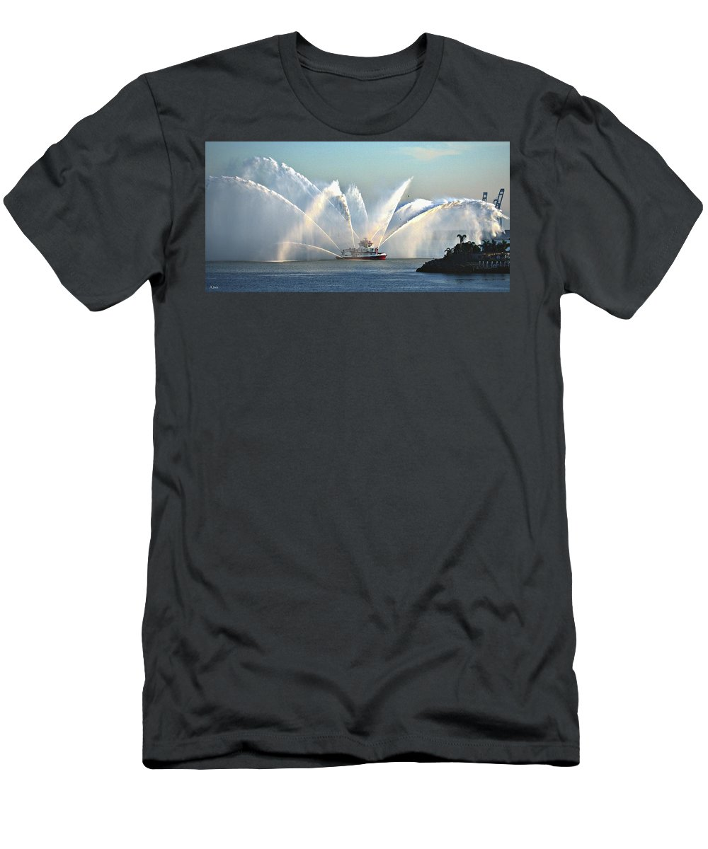 Boat Men's T-Shirt (Athletic Fit) featuring the photograph A Pumper by John R Williams