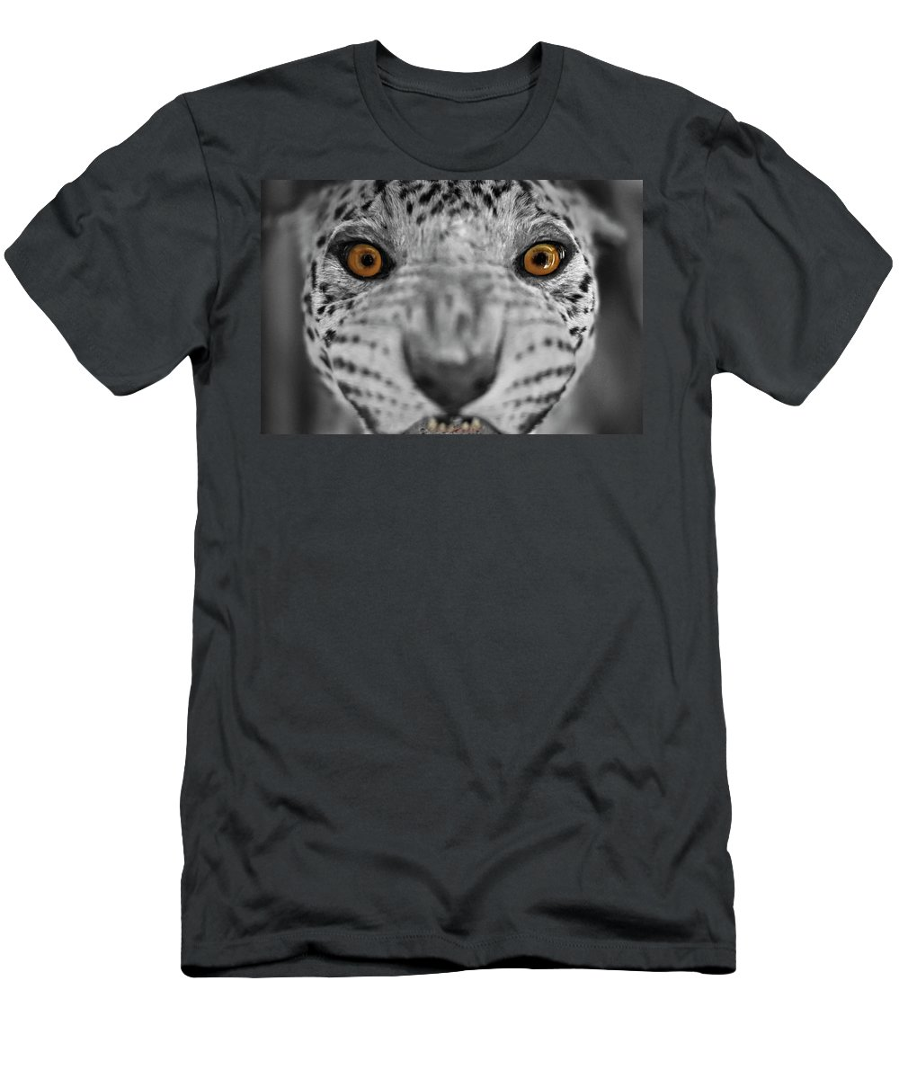 Leopard Men's T-Shirt (Athletic Fit) featuring the photograph Alive by Jayson Tuntland