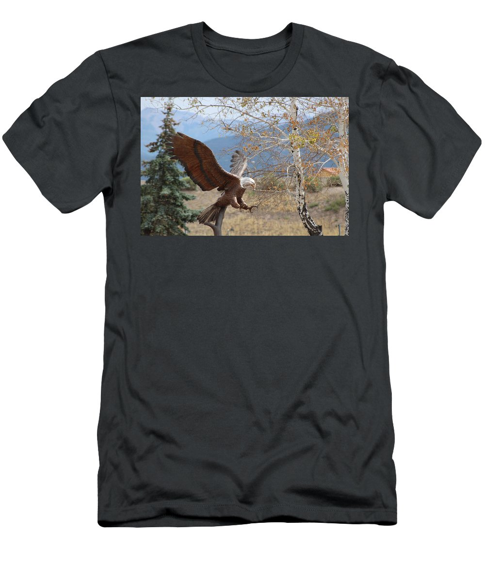 Eagle T-Shirt featuring the photograph American Eagle in Autumn by Colleen Cornelius