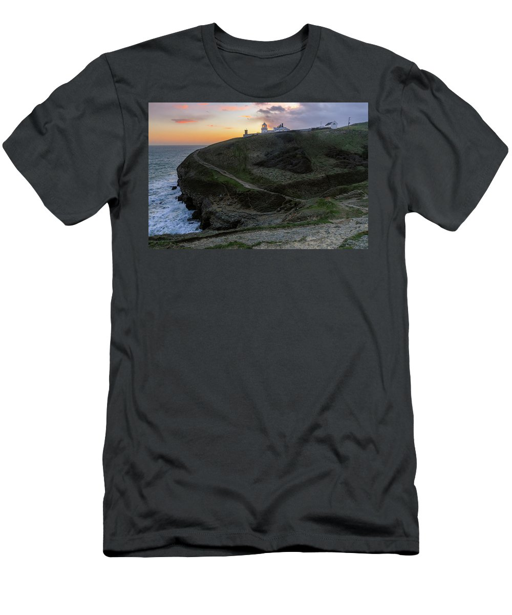 Anvil Point Men's T-Shirt (Athletic Fit) featuring the photograph Anvil Point - England by Joana Kruse