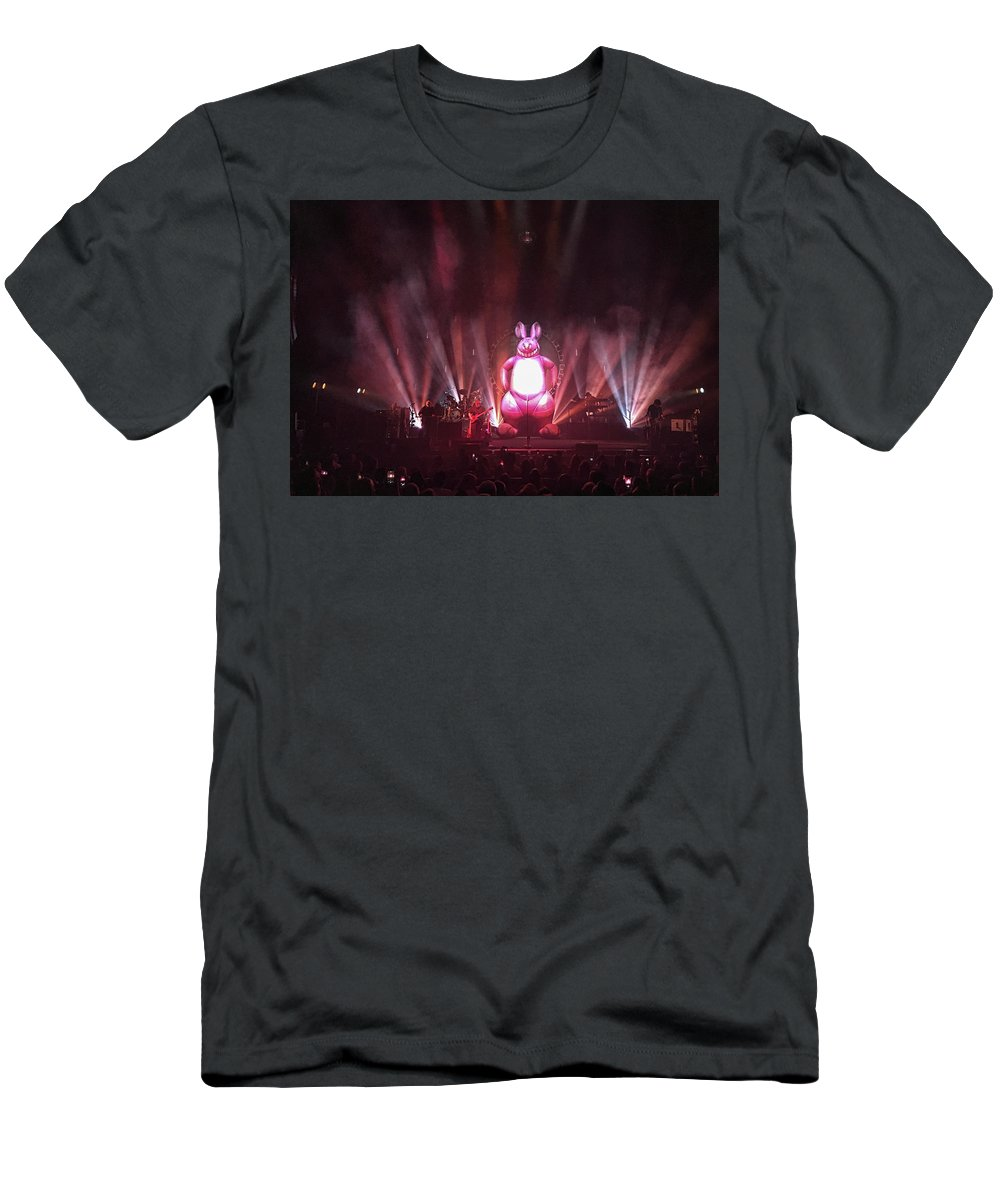 Pink Floyd Men's T-Shirt (Athletic Fit) featuring the photograph Aussie Pink Floyd - Clearwater, Fl by John Black