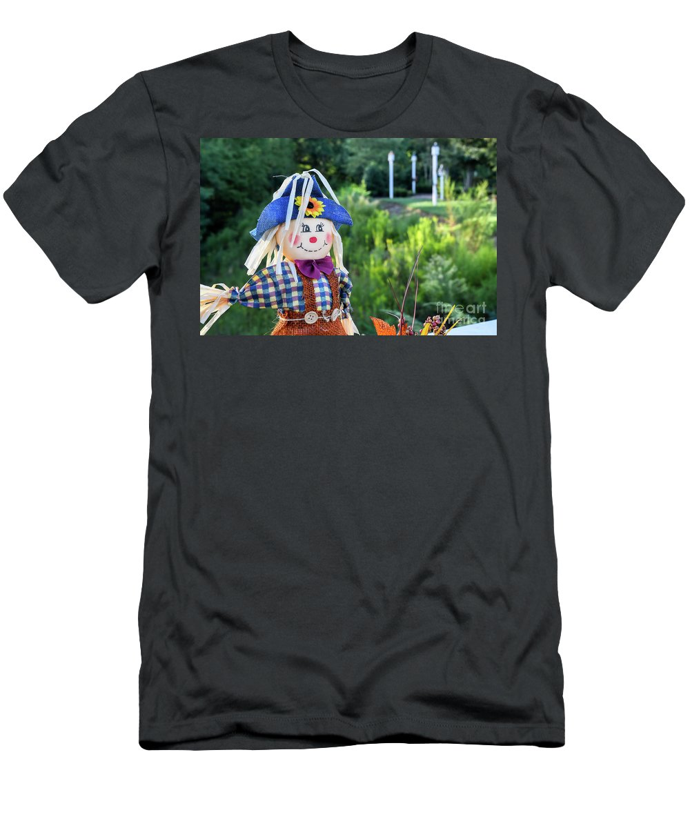 Baileys Glen Men's T-Shirt (Athletic Fit) featuring the photograph Autumn Happiness by Amy Dundon