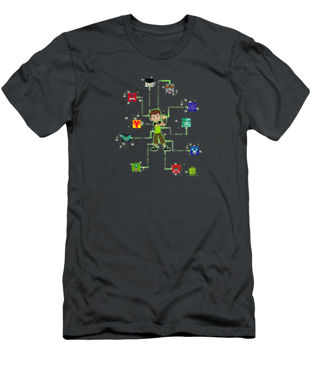 girls' Novelty Clothing Men's T-Shirt (Athletic Fit) featuring the digital art Ben 10 10 Blocks Tshirt by Unique Tees