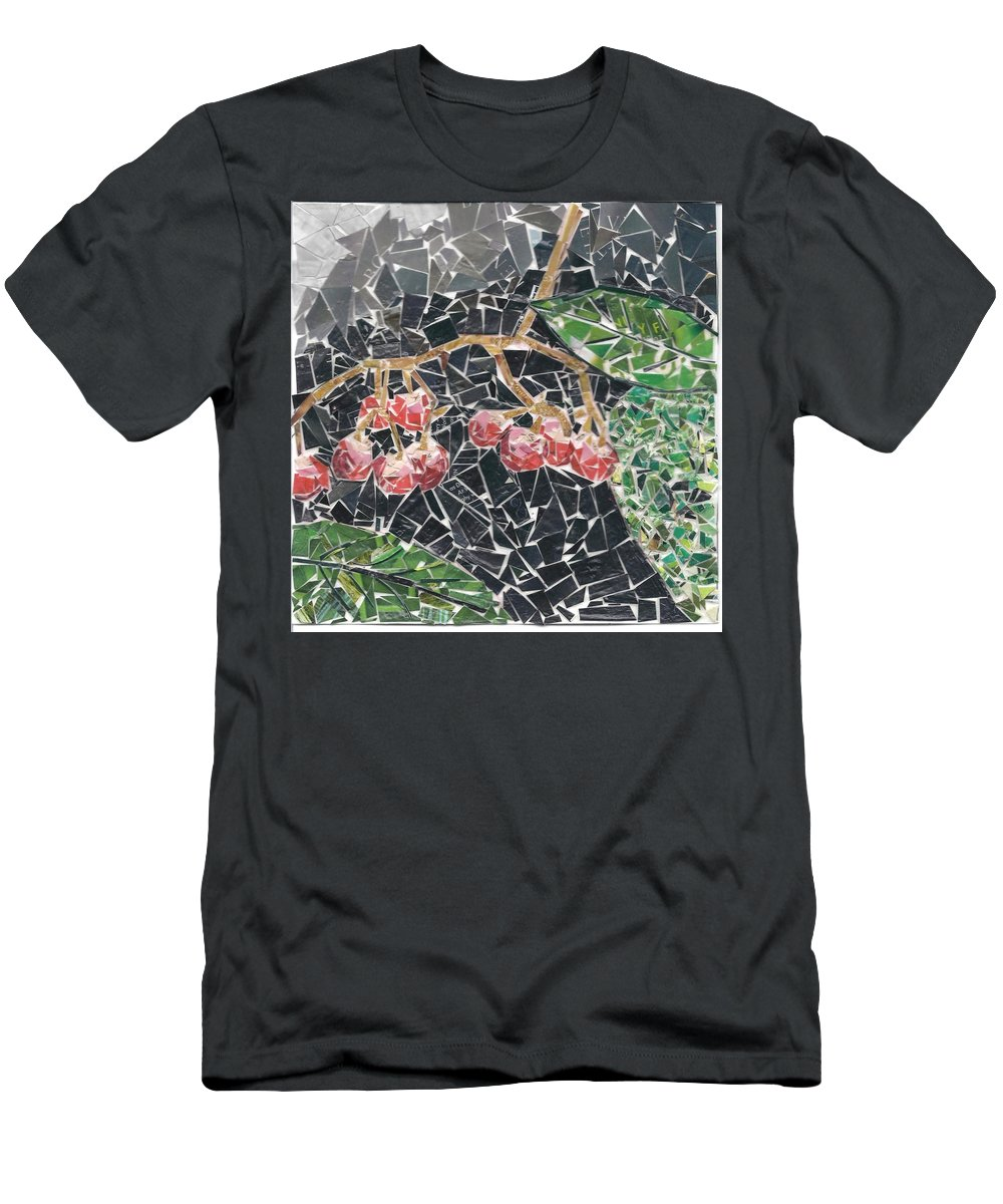 Berries Men's T-Shirt (Athletic Fit) featuring the mixed media Berries by Karla Clark