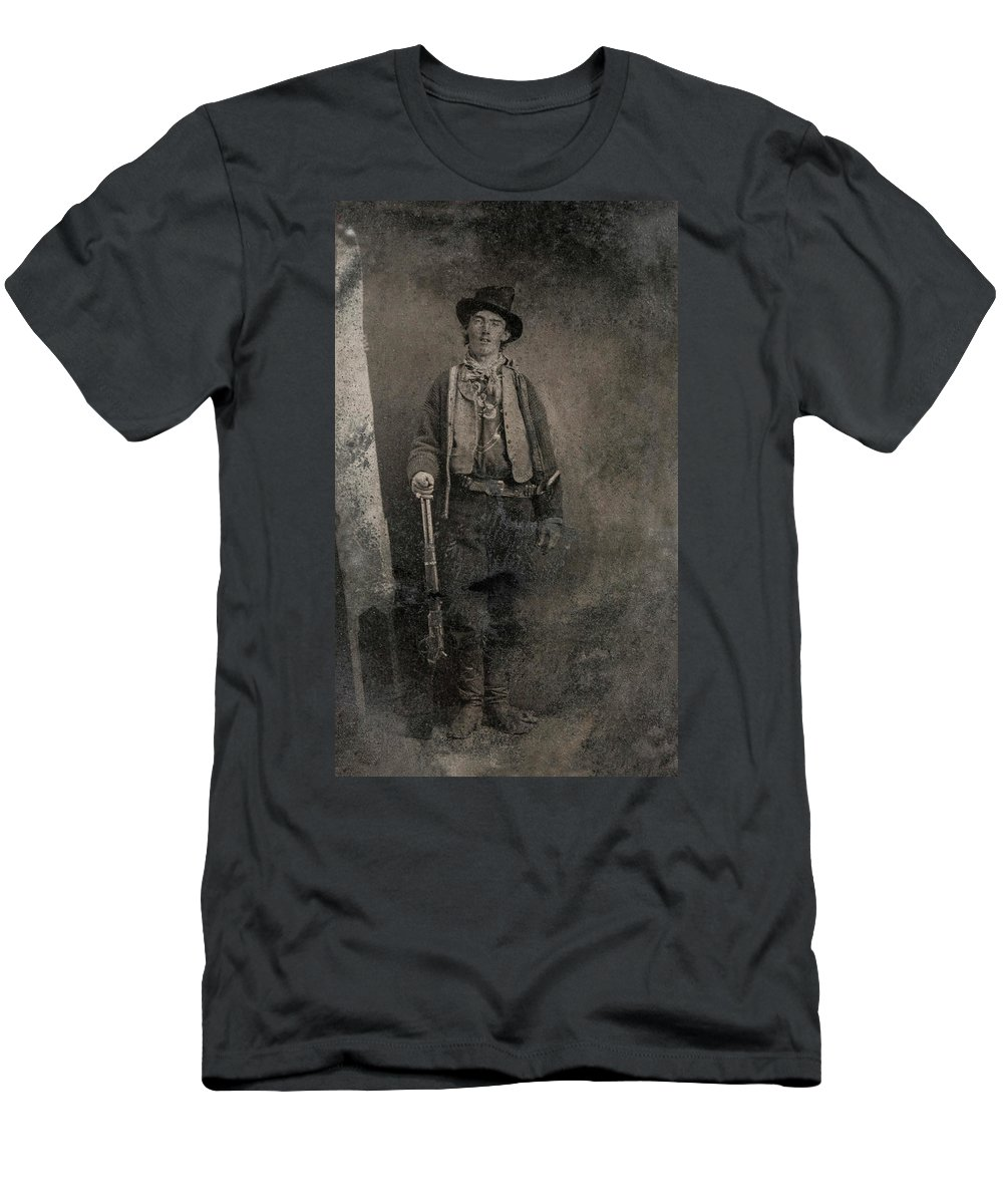 Billy The Kid T-Shirt featuring the painting Billy The Kid, 1880 by American School