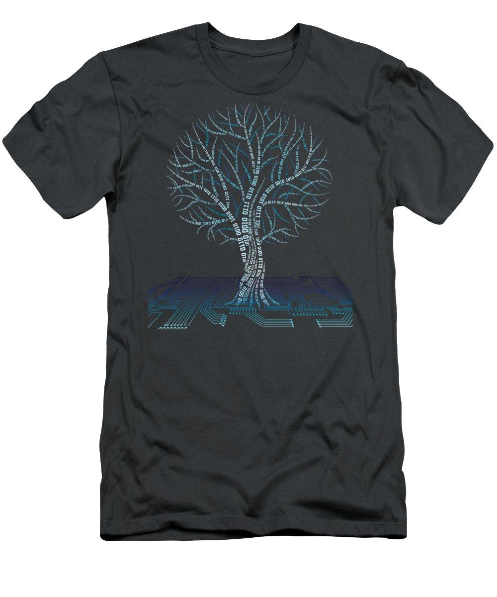 girls' Novelty Clothing T-Shirt featuring the digital art Binary Tree Computer Coding T-shirt by Do David