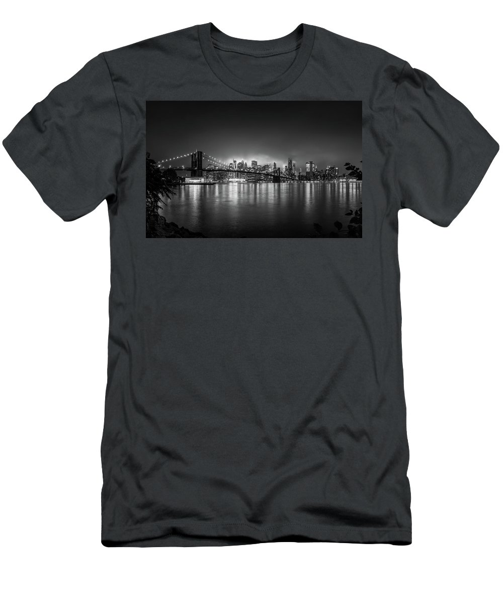 New York T-Shirt featuring the photograph Bright Lights of New York by Nicklas Gustafsson