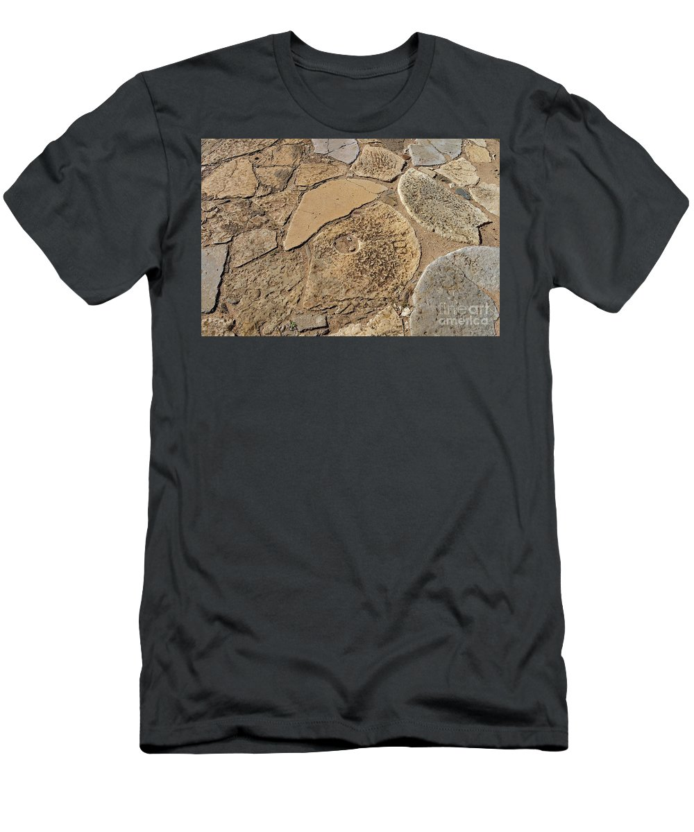 Millstones Men's T-Shirt (Athletic Fit) featuring the photograph Broken Millstones by Angelo DeVal
