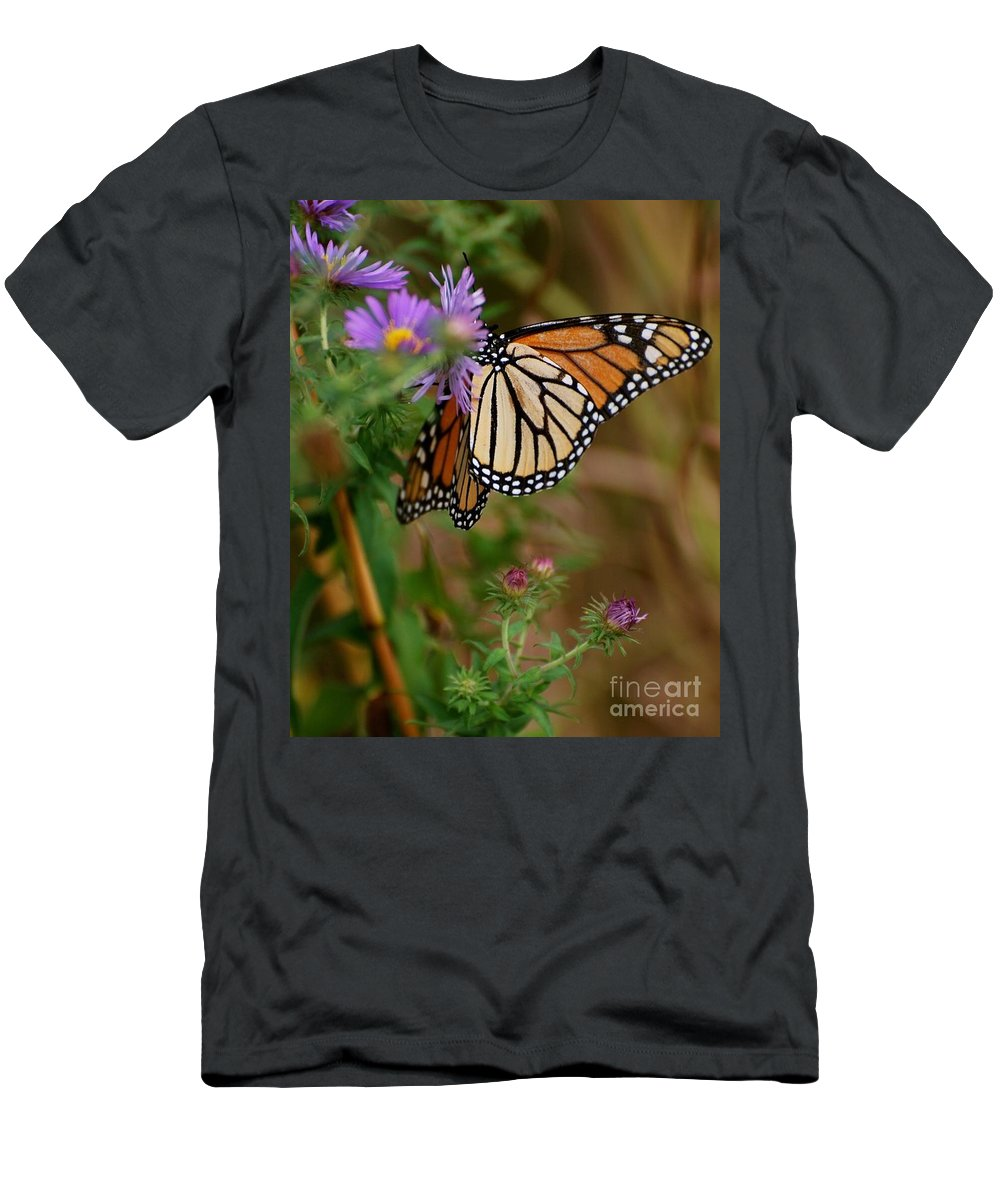 Butterfly Men's T-Shirt (Athletic Fit) featuring the photograph Butterfly by Deb Cawley