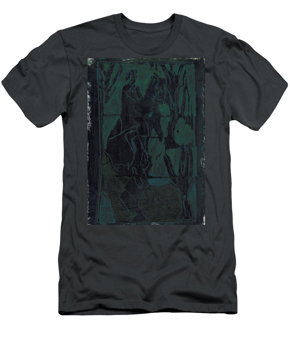 Cavalry Men's T-Shirt (Athletic Fit) featuring the painting Cavalry 8 by Artist Dot