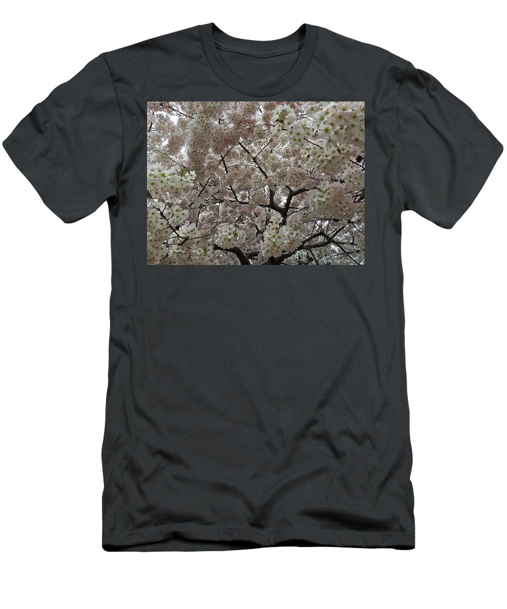 Men's T-Shirt (Athletic Fit) featuring the photograph Cherry Blossoms by Renee McAndrew