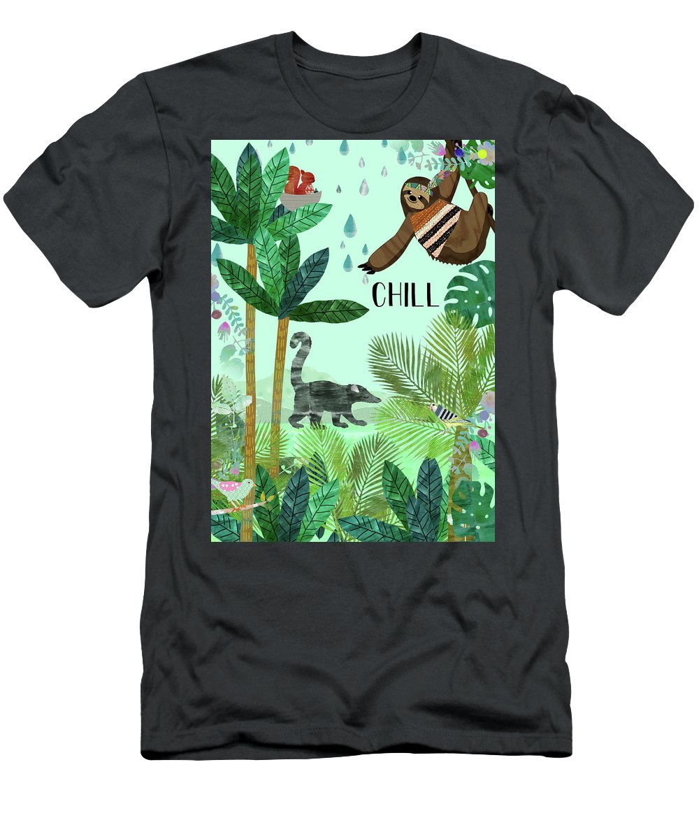 Chill Men's T-Shirt (Athletic Fit) featuring the mixed media Chill by Claudia Schoen