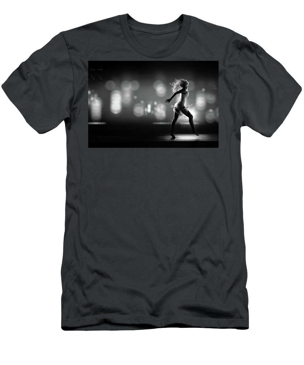 Girl T-Shirt featuring the photograph City Girl by Johan Swanepoel