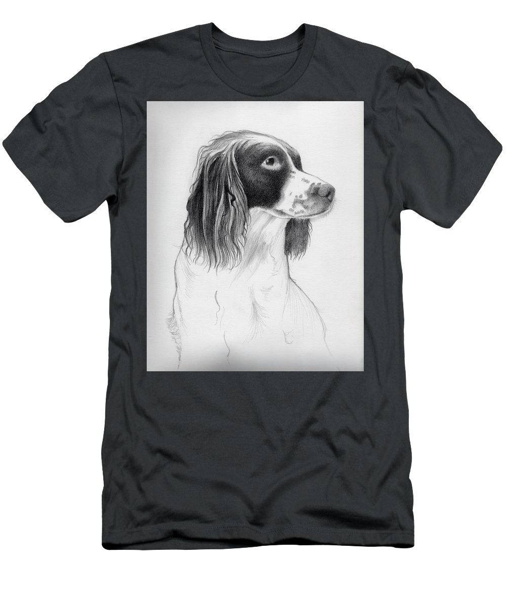 Coco Men's T-Shirt (Athletic Fit) featuring the drawing Coco by Ashley Jennings