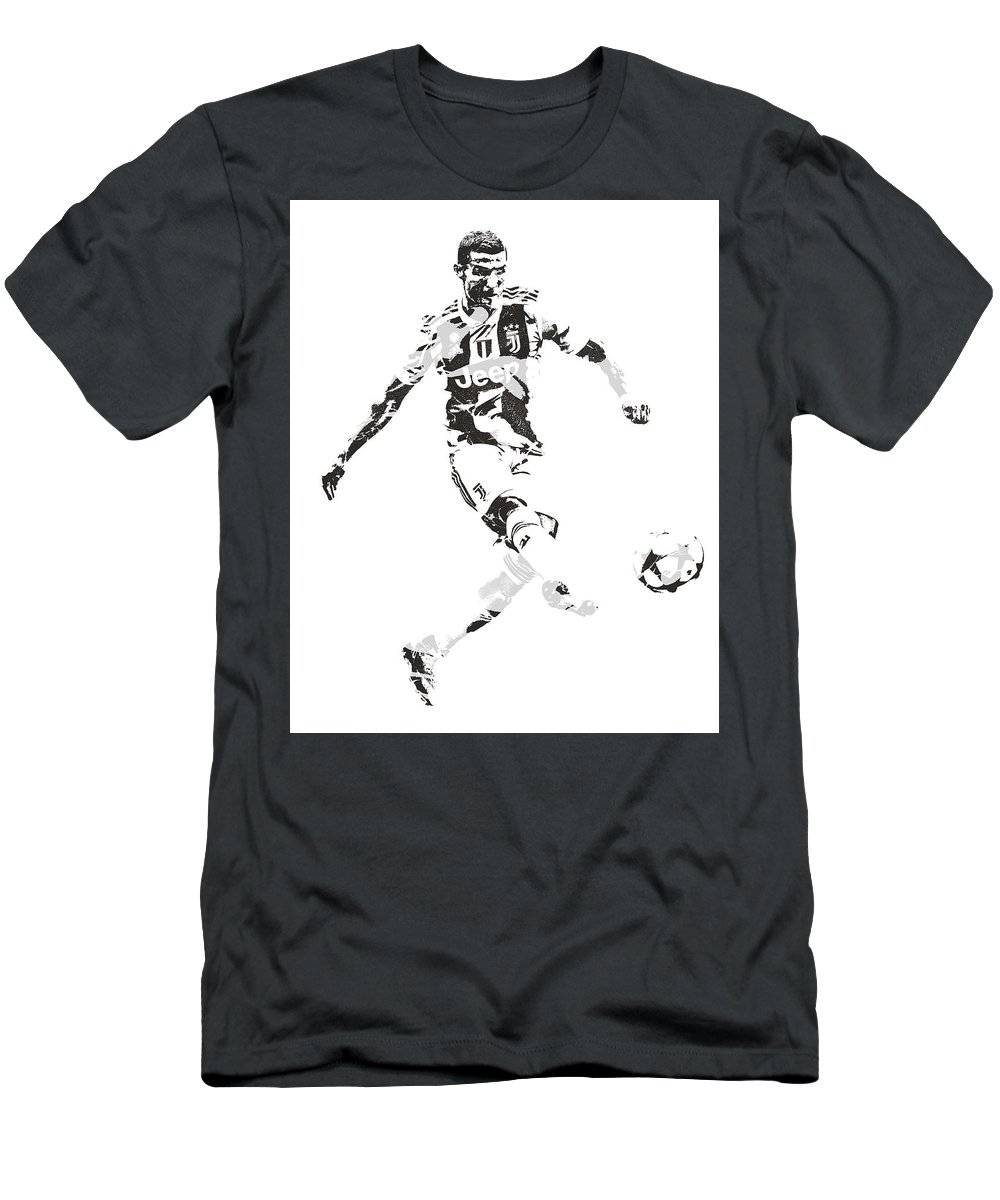 info for 383d0 27dec Cristiano Ronaldo Juventus Pixel Art 4 Men's T-Shirt (Athletic Fit)