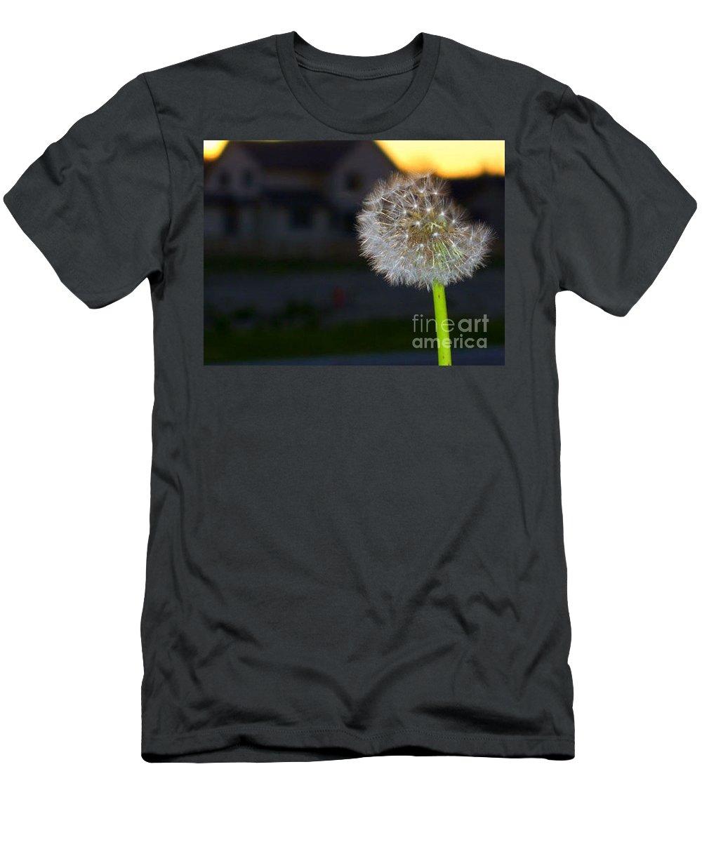 Dandelion Men's T-Shirt (Athletic Fit) featuring the photograph Dandelion by Raquel Bright