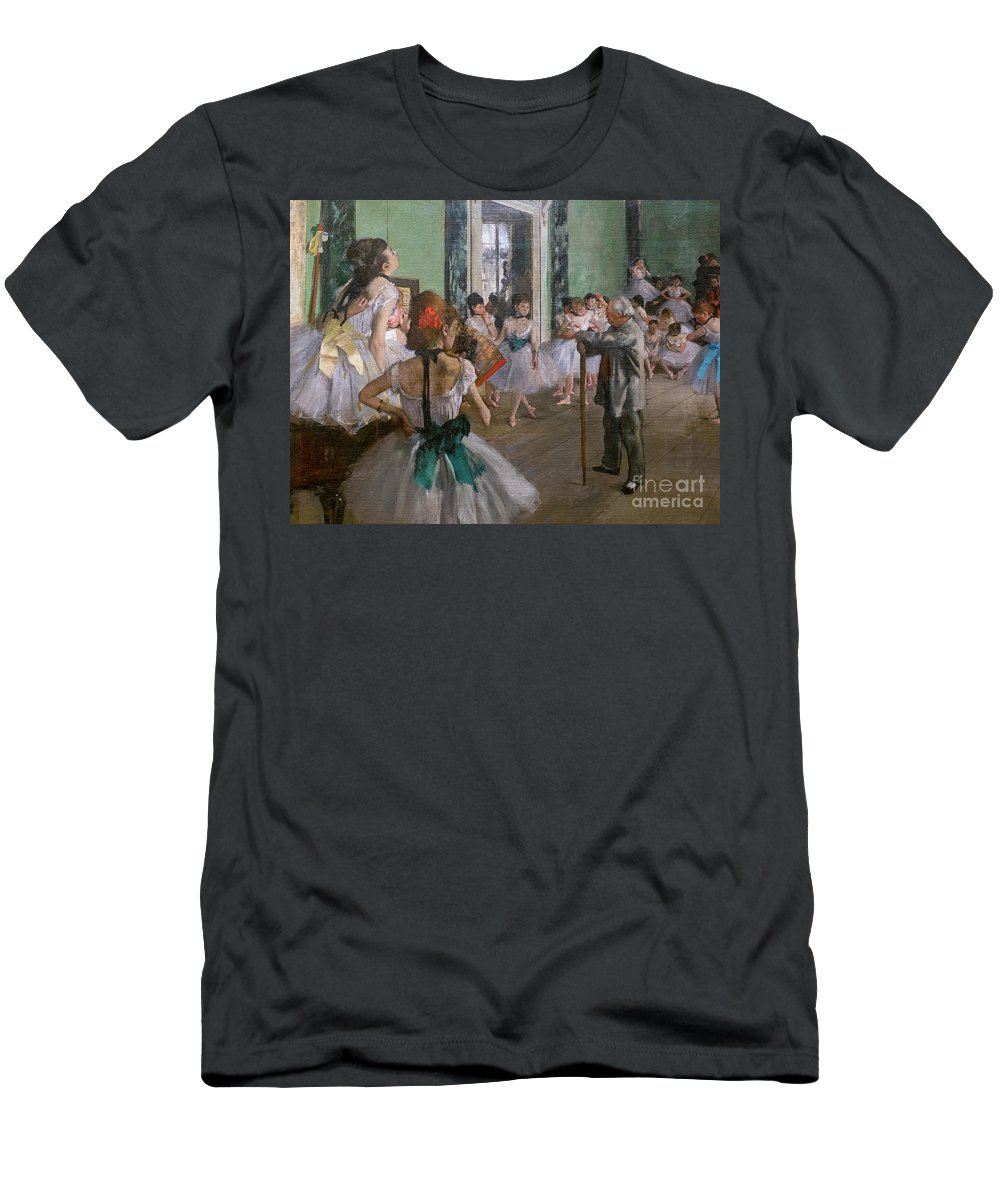 Dance T-Shirt featuring the painting Degas, The Dance Class Detail by Edgar Degas