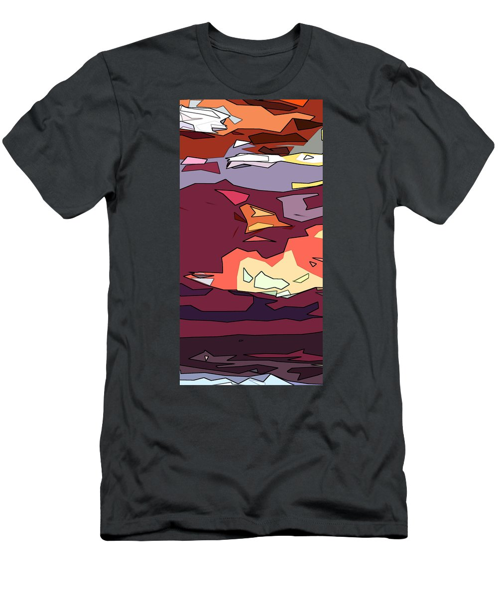 Abstract Men's T-Shirt (Athletic Fit) featuring the digital art Desert Aspect Panel One Of Three by Linda Mears