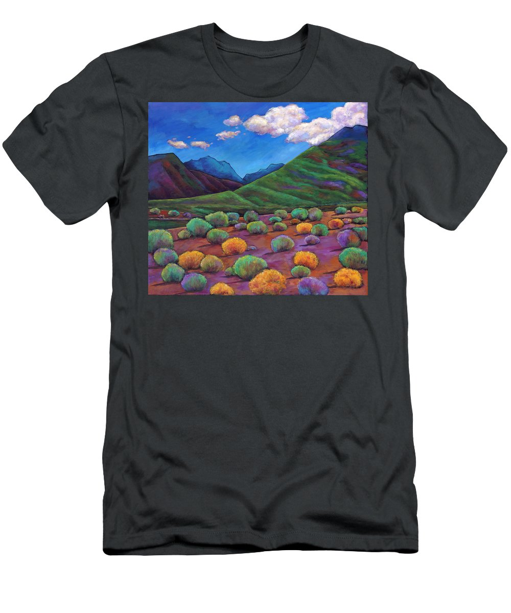 Arizona T-Shirt featuring the painting Desert Valley by Johnathan Harris