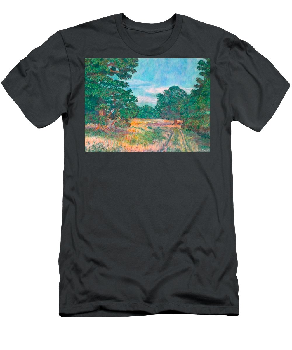 Landscape T-Shirt featuring the painting Dirt Road Near Rock Castle Gorge by Kendall Kessler