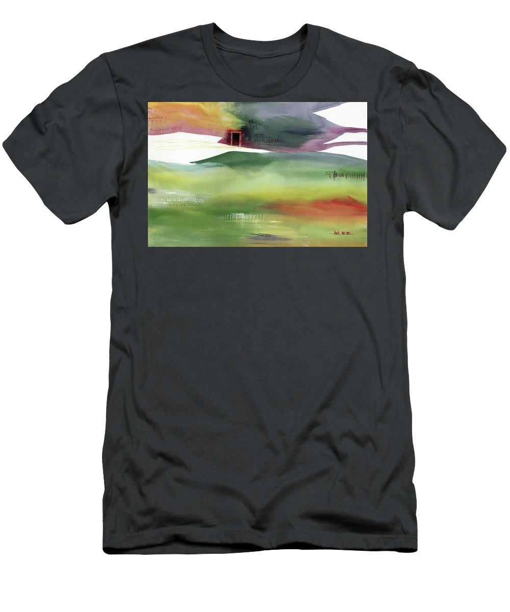 Nature T-Shirt featuring the painting Door 4 by Anil Nene